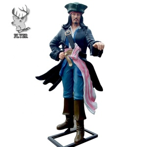 Custom collectible resin life size pirate statue for sale