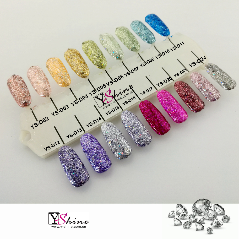 Uv/Led gel color diamante/soak off gel uv nail polish