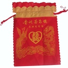 Factory supply fashion red drawstring non woven wedding use bag for carrying wines or candy