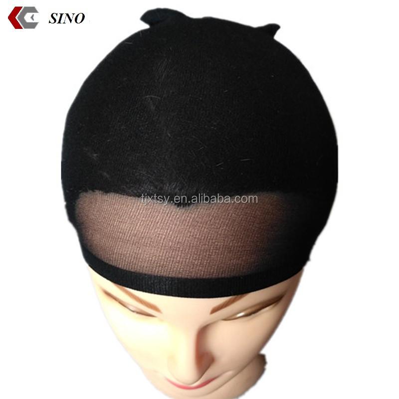 Fashion hip hop spandex dome cap mens sports beanies plain Skullies hats  black stocking wave cap bonnet b4f57d7b9aa