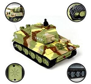 Children's Basic Skills Development Toys Rotate Radio Remote Control Tiger Tank 20M 1:72 49MHz R/C 360°