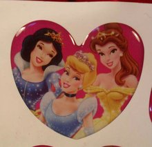 2012 new Heart-shaped crystal sticker