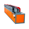 good price galvanized steel auto cutting rolling slide door roll forming machine for making garage roller shutter slat