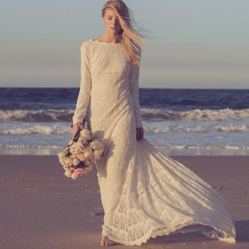 Vestidos-Custom-Made-2016-Long-Sleeves-Lace-Beach-Bohemian ...