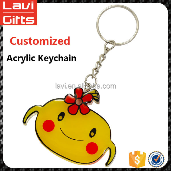 Promotional custom printed acrylic keychain with Logo