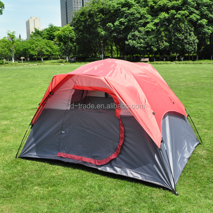 Outdoor Pop Up Camping Hiking Tent Polyester Dual Layers Tipi Tent Travel Tent