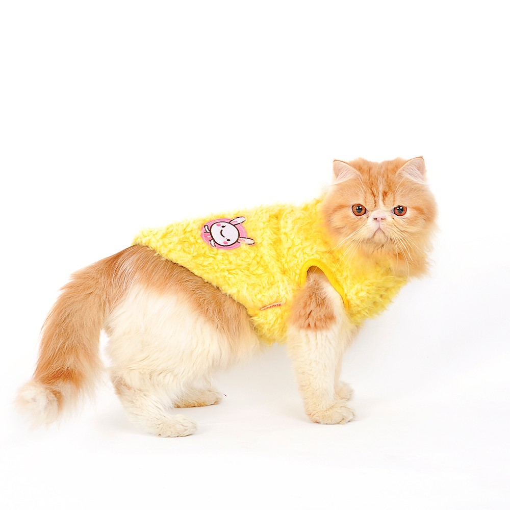 Design light yellow soft polar fleece winter pet clothes Dog clothes design your own