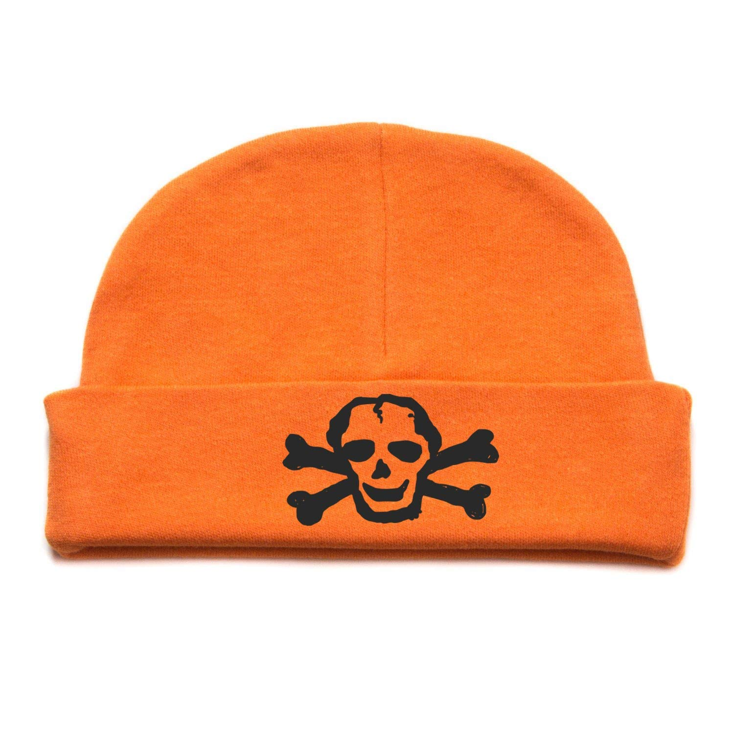 da665af6ed4ef Get Quotations · Crazy Baby Clothing White Scribble Skull Infant Baby Beanie  Cap