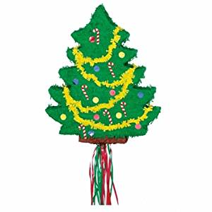 Christmas Tree Flat 21 1/2in x 18in Pull String Pinata by Party America