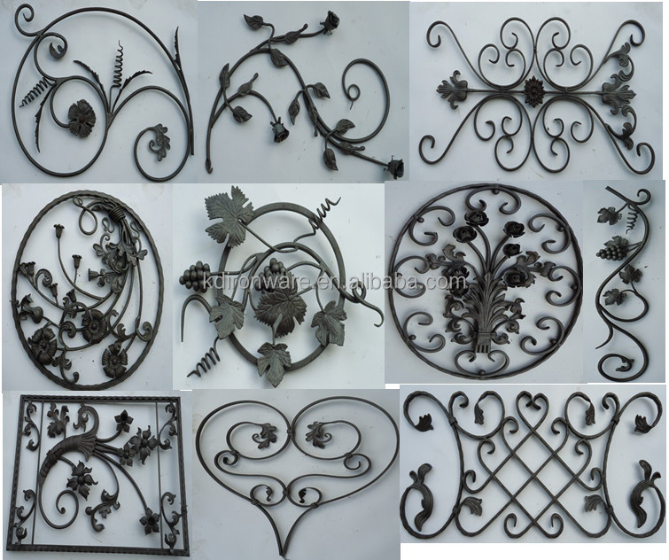 Ornamental Iron Flowers And Leaves For Gate Grills