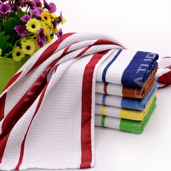 Plain White Tea Towel Bulk Made In China Factory Custom Cotton Kitchen