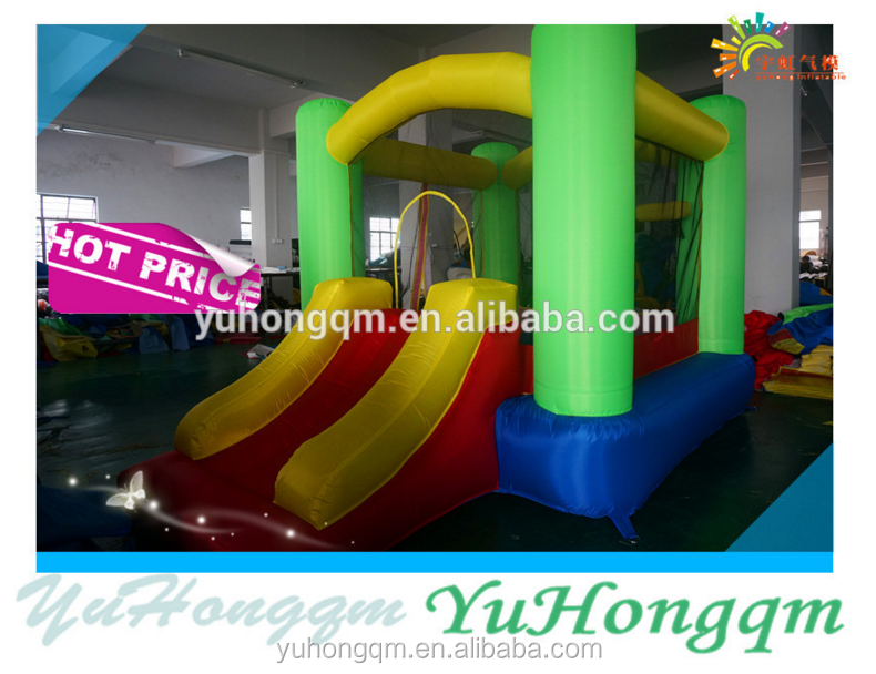 Colorful design inflatable jumping bouncer with slide for little kids play