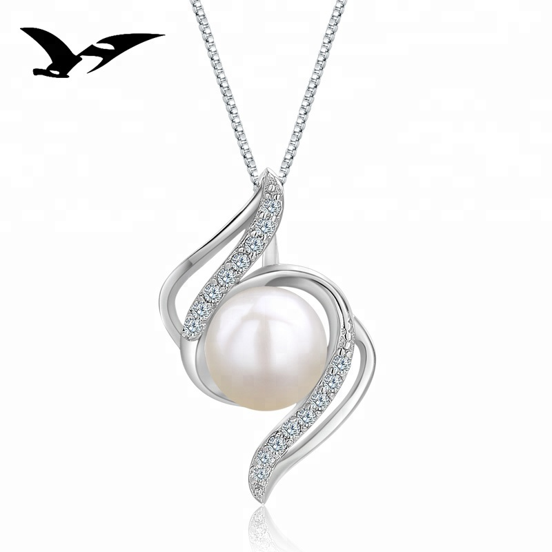 Wholesale 925 sterling silver fashionable freshwater pearl <strong>pendant</strong>