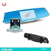 Dual ways 5inch car rearview mirror camera recorder 1080P