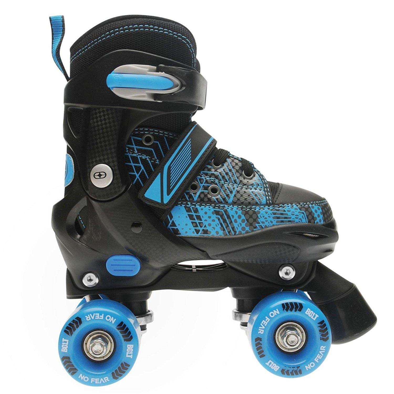 No Fear Kids Boys Bolt Quad Skates Junior Buckle Hard Shell