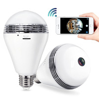(2018 Updated Version)Amazon Bestseller 960P 360 degrees Small Wireless Hidden Light Bulb Camera Night Vision