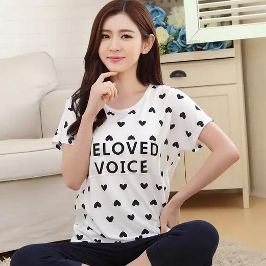 China Ladies  Cotton Knit Sleepwear 9889758f9