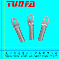 Compression copper cable terminal aluminum cable lugs for electrical line fittings