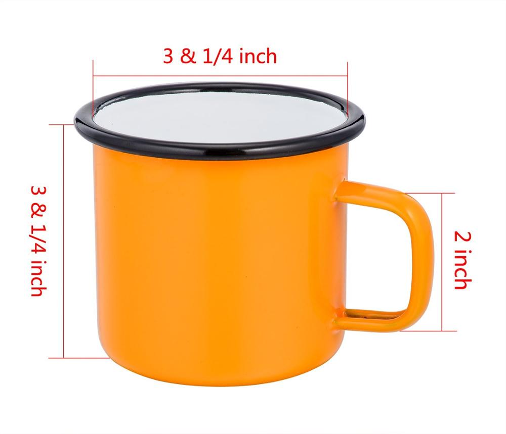 Camper Enamel Camping Mug - <strong>Black</strong>, 12 Oz (350 ml), Ecofriendly Outdoor Camper Mugs