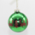 China Oem Supplier christmas ornaments 8CM Hand Painted christmas Glass Ball