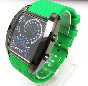 c951b24d3f71 Barato al por mayor de moda para dama relojes deportivos de aviación estilo  Turbo Dial Flash