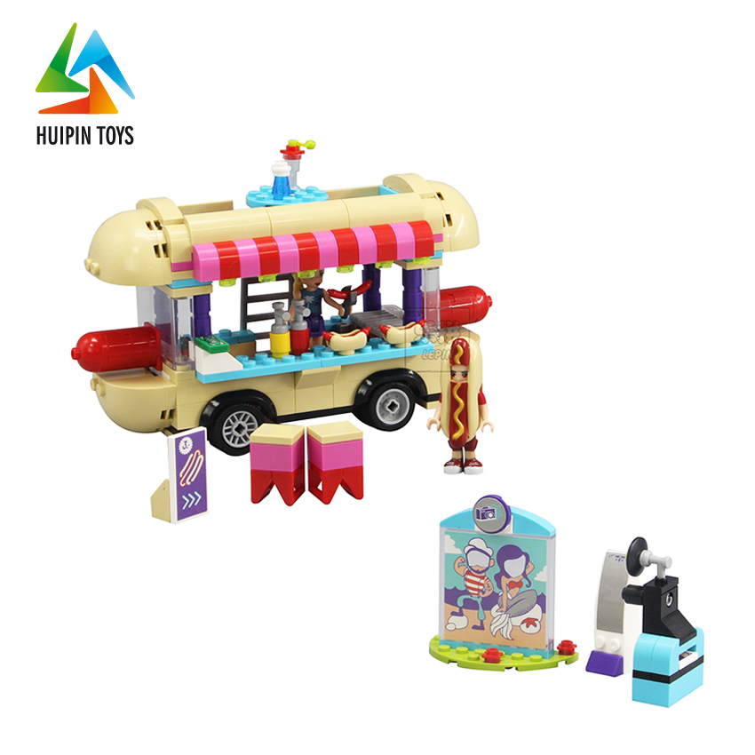 01007 scenes hot dogs dining cars blocks diy kids trending toys with high quality