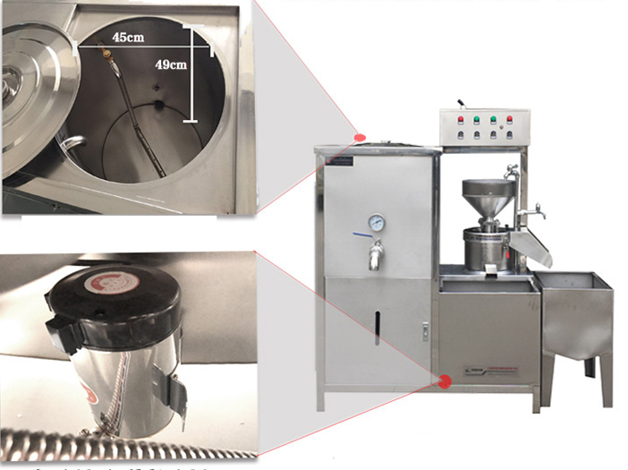 Hot Sale Automatic  Gas Heating or Electric Heating Commercial Soymilk Tofu Soybean Milk Bean Curd Forming Making Machine
