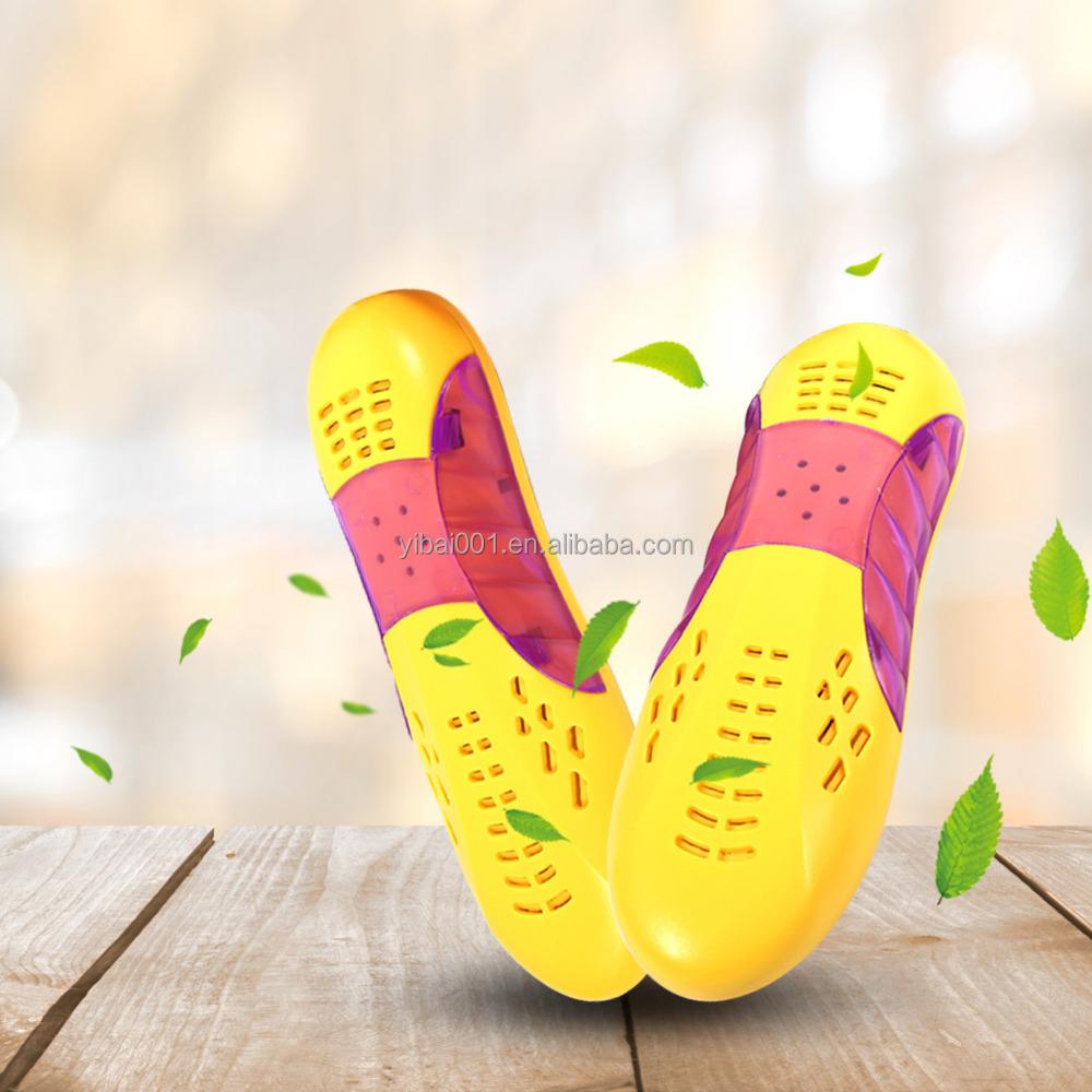 220 볼트 신발 건조기 바이올렛 빛 신발 건조기 히터 따뜻한 부팅 탈취제 제습 장치 플라스틱 쉘 EU 플러그