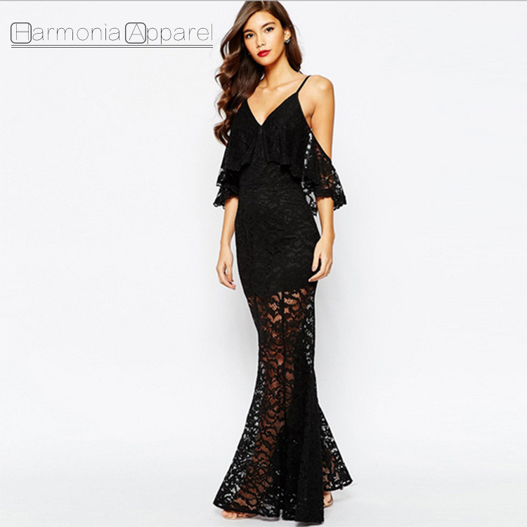 Großhandel schwarzes one shoulder kleid Kaufen Sie die besten ...
