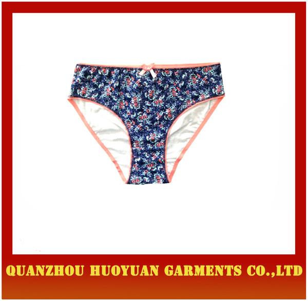 0c40483f947 last design women briefs women underwear model flower printed knitting  ladies panties
