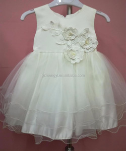 136bde74624f Popular Off White Appliqued bodice Baby Girl s Boutique Kid s Long Dress