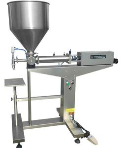 semi automatic manual cup ice cream filling machine with hopper