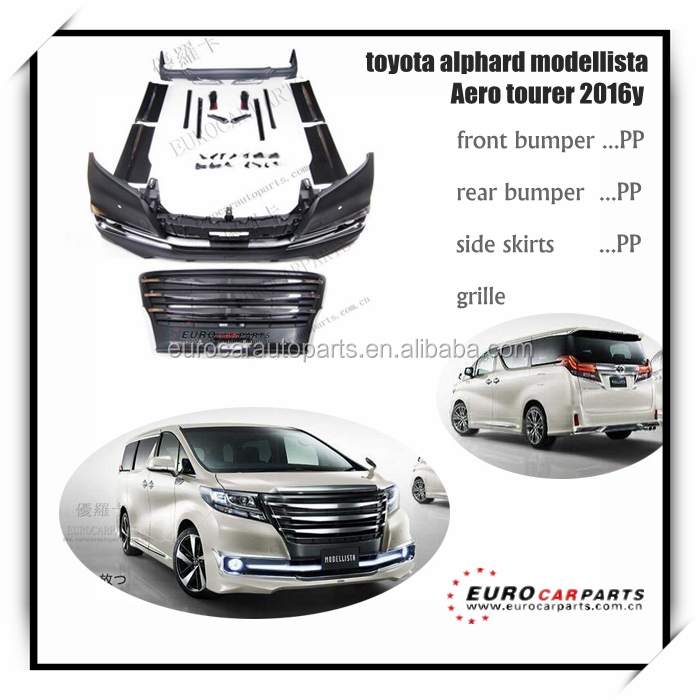 Hot sale !! body kits fit for toyota Alphard modellista aero tourer style 2016y PP Material