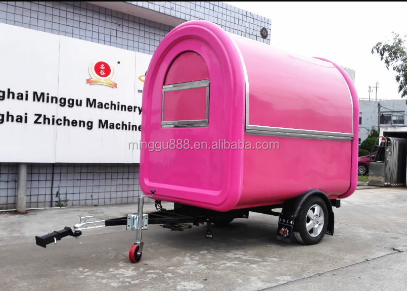 chinese food truck mobile vending cart, cheap concession cart, fabricant food truck