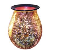 3D glass oil lamp