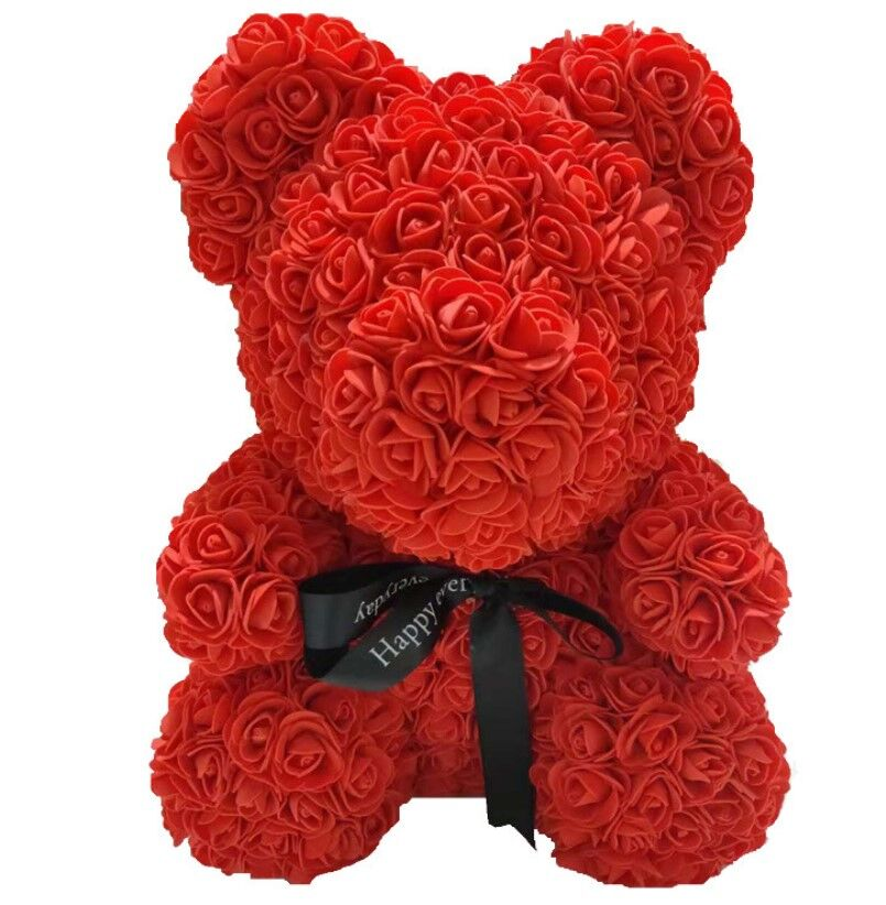 Hot 25 cm kunstmatige Foam Teddybeer Rose beer