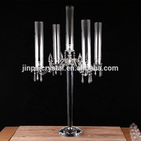 polish glass cylinders tall centerpieces vase cristal crystal candlestick