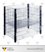 Wire mesh basket laundry cages
