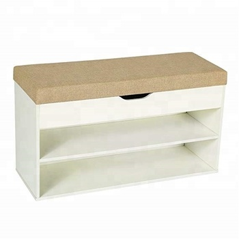 Wooden Shoe Bench Storage With Cushion View Shoe Bench Storage
