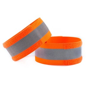 fluorescent Running Safety Reflector Tape Straps with free sample