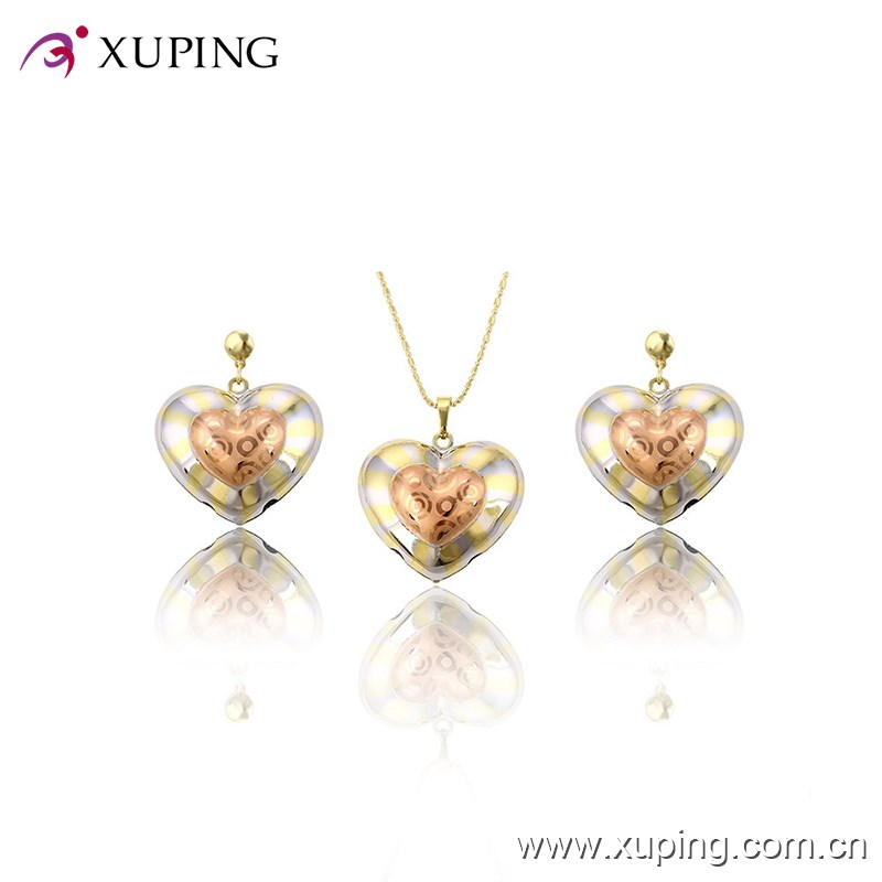 63757 beautiful Heart Shaped Set Fashion african jewelry set