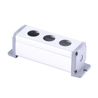 Light Switch Enclosure 16mm/19mm/22mm/25mm Three Holes Aluminum Waterproof Metal Push Button Switch Box