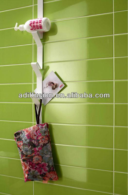 carrelage vert glacé pour la salle de bain 10x30cm 4 * 12 ...
