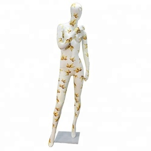 New style full body fiberglass white egg head female torso mannequin sexy dummy for sale