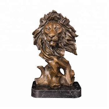 Hause Dekoration Antike Heißer Casting Bronze Metall Lion Kopf ...