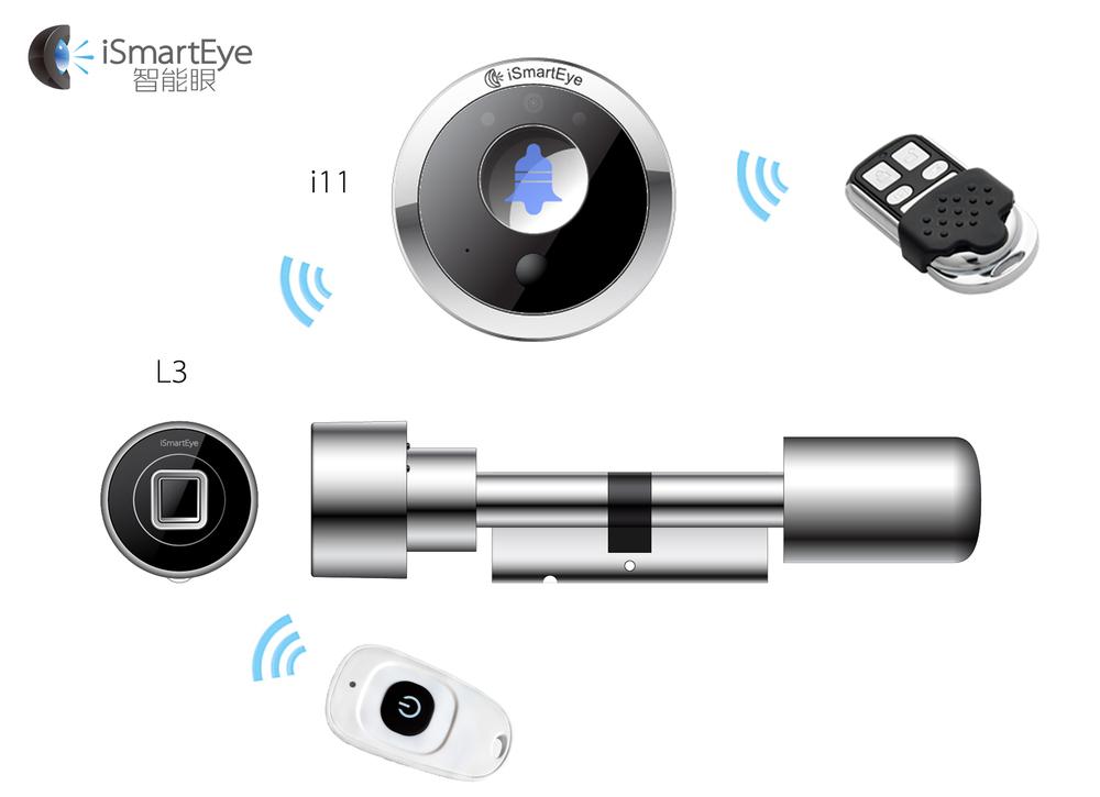 bluetooth fingerprint reader cylinder keyless entry door lock