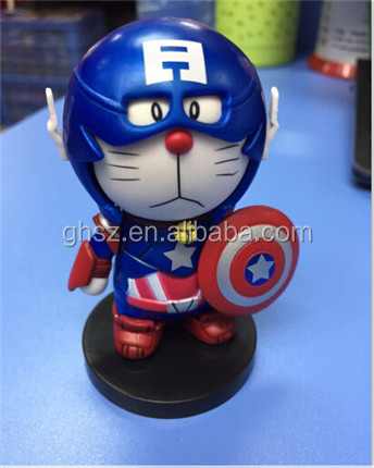 Guo hao hot sale custom doraemon figuring , custom pvc figure