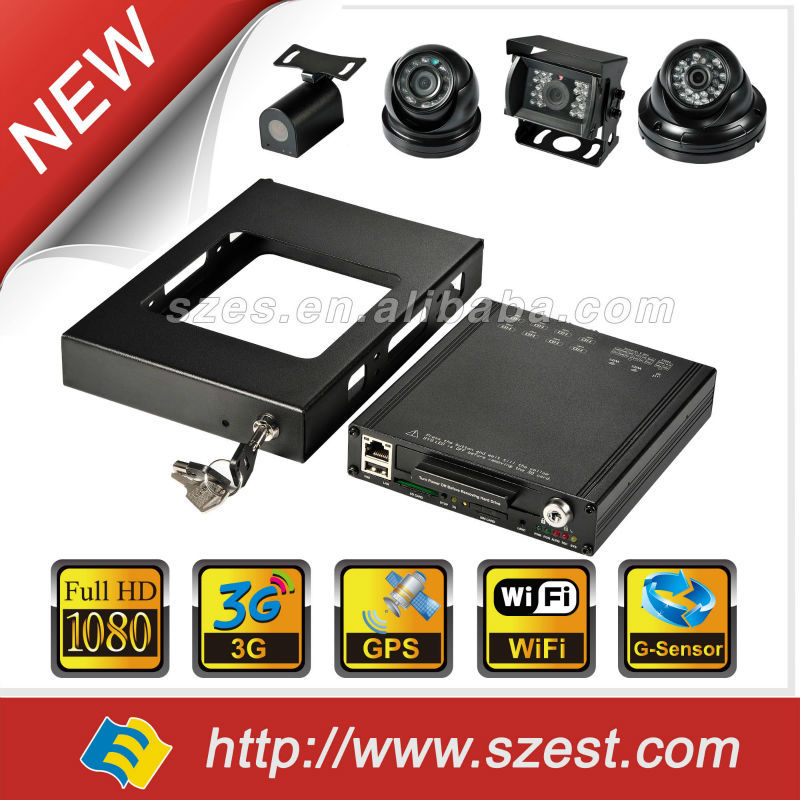 1080P digital video recorder and 8 digital cameras support G-sensor GPS/GNSS 3/4G Wi-Fi Car black box DVR