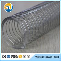 4 inch diameter steel wire spiral pvc flexible hose pipe