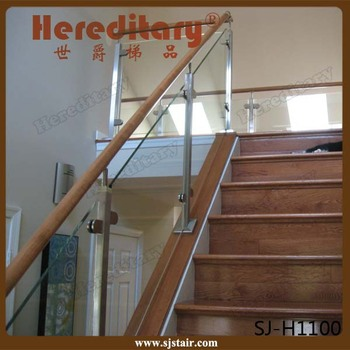 Durable Safety Tempered Glass Railing Stair Stainless Steel Exterior Handrail  Lowes